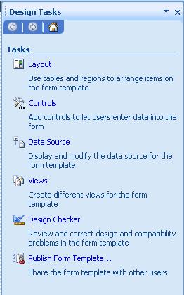 Designer task pane