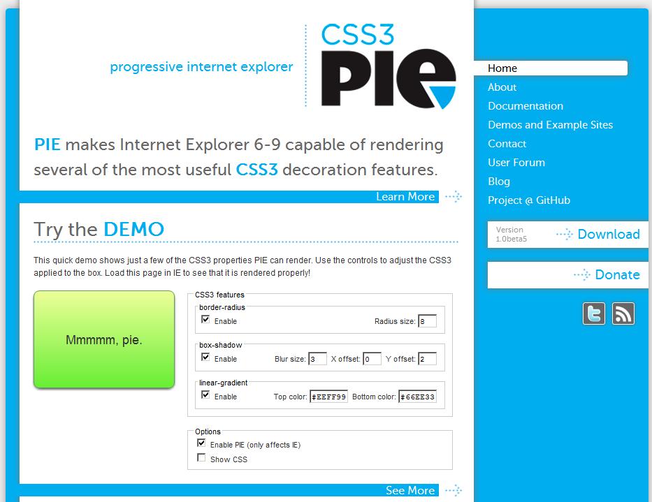 CSS3 PIE Builder