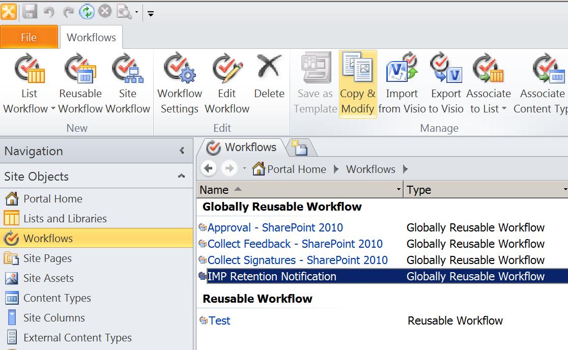 SharePoint: Deploy a Declarative Globally Reusable Workflow