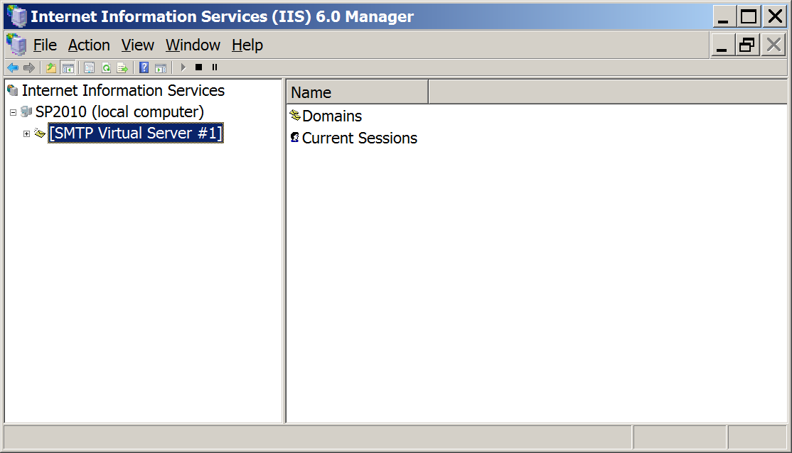 IIS 6.0 Manager