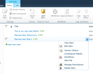 List View Pages