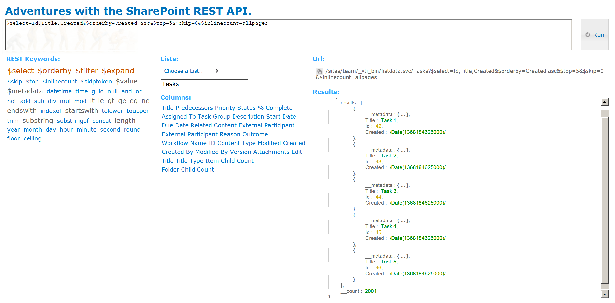 Client and Server Driven Paging with the SharePoint REST API