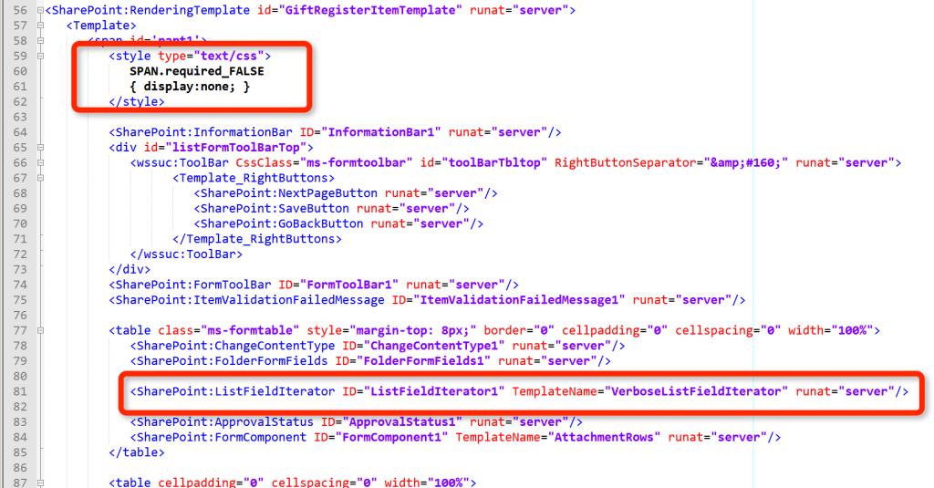 Custom Content Type Rendering Template