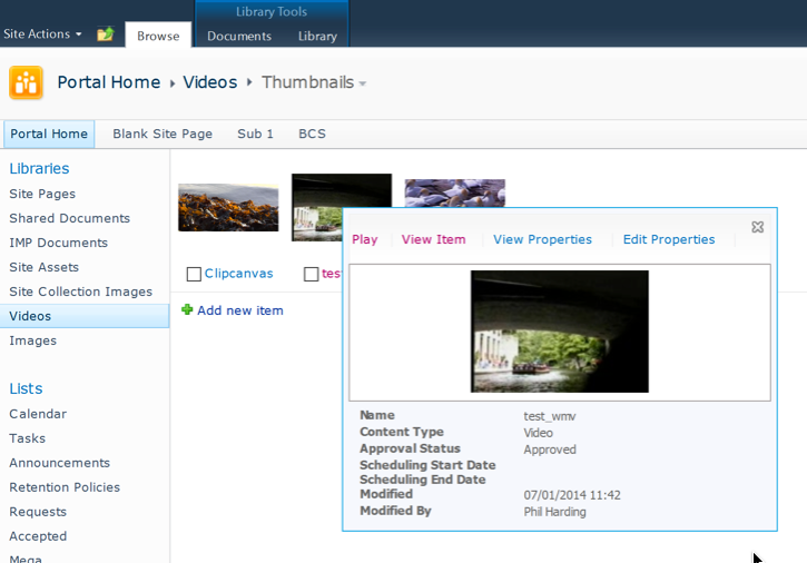 Using the SharePoint 2010 Silverlight Video Player