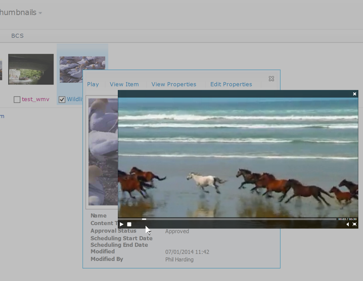 Silverlight Video Player