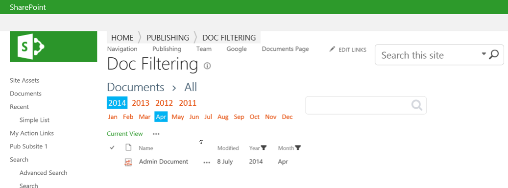 Dynamically Filtering SharePoint List Views using Javascript