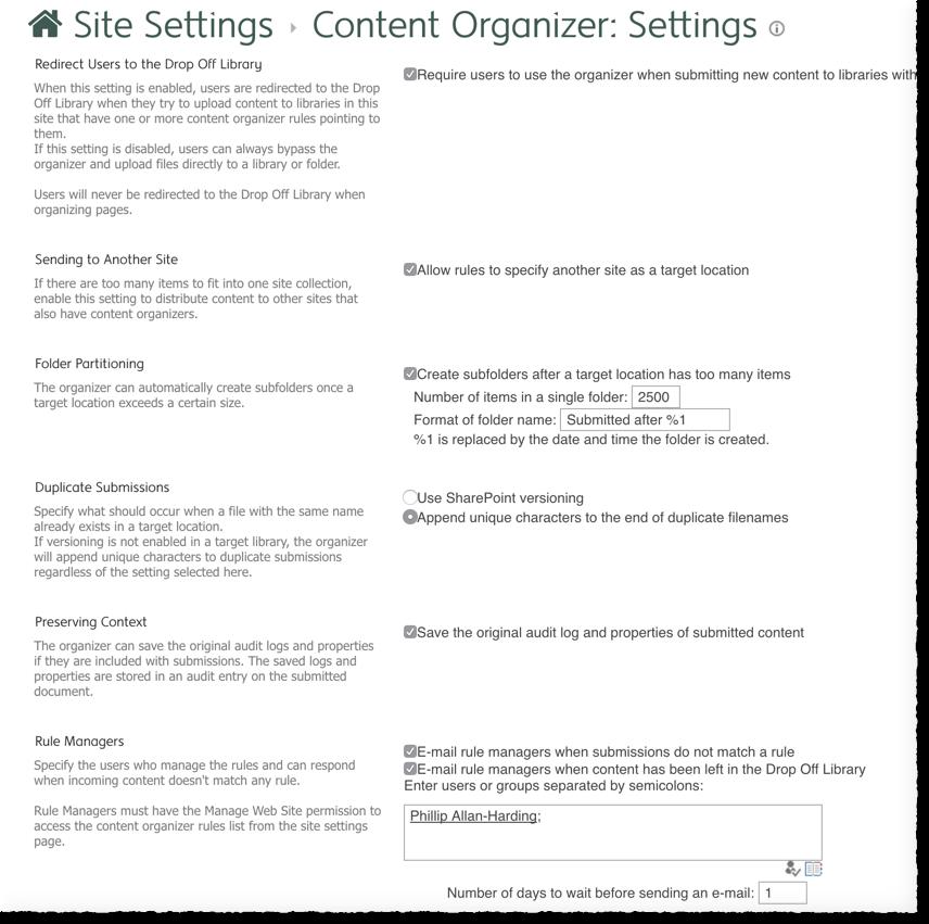 co-settings
